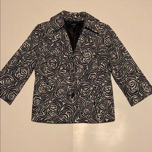 EUC Rafaella Petites cropped 3/4 sleeve blazer (P)